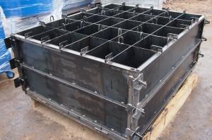 Металлические формы для производства бетонных блоков с ячеистой структурой