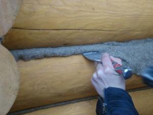 Этапы конопатки деревянной бани
