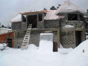 Строительство из газобетонных блоков зимой